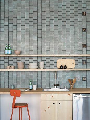 Installation Inspiration Heath Ceramics 4x4 Layered Glaze Tiles Chalk Gunmetal With