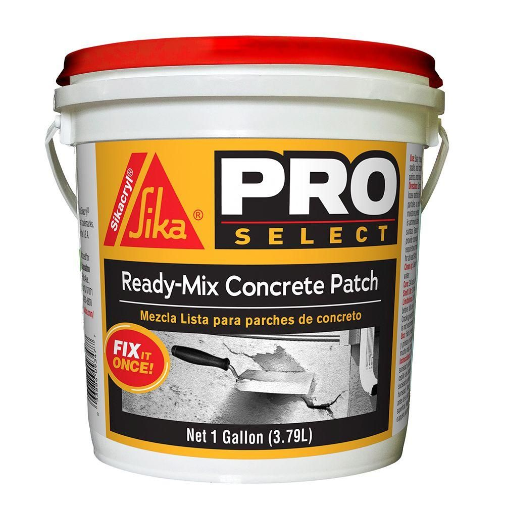 Sika 1 Gal Ready Mix Concrete Patch Repair 7116140 The Home Depot Mix Concrete Concrete Ready Mixed Concrete
