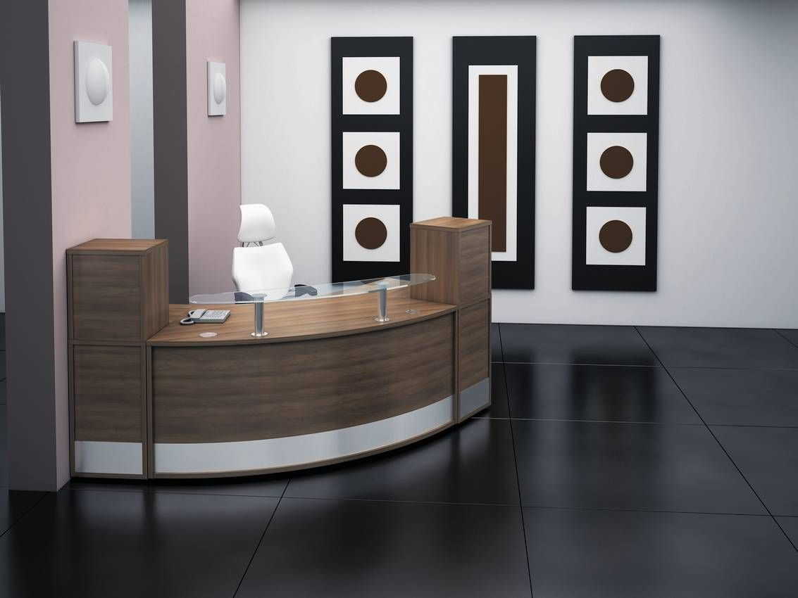 office furniture reception desks large receptionist desk. interior awesome office reception furniture featured curved glass top desk also stylish swivel chair and large black floor tile ergonomic area desks receptionist i
