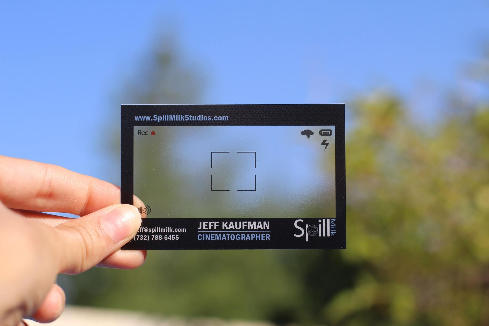 Visitenkarten Transparent Kamera Kristallklar 400