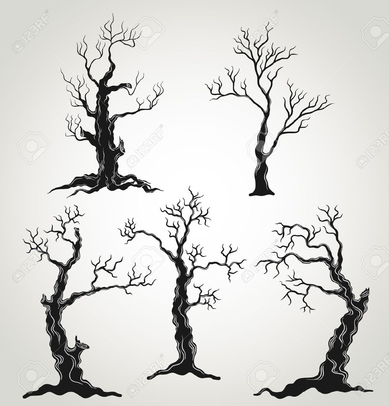 hight resolution of spooky tree stock vector illustration and royalty free spooky tree