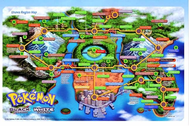 Picture Pokemon Pokemon Regions Pokemon Black And White