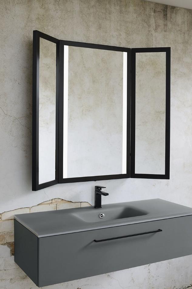 Miroir Triptyque Noir Salle De Bain Miroir Salle De Bain Amenagement Salle De Bain