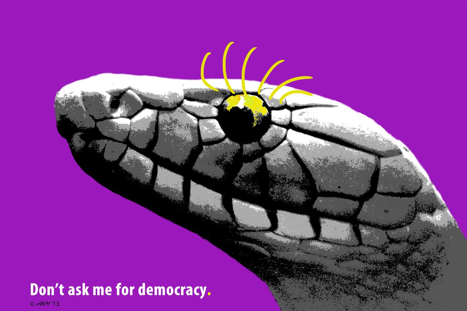 "Rashid Akmanov Poster art.  ""Democracy"""