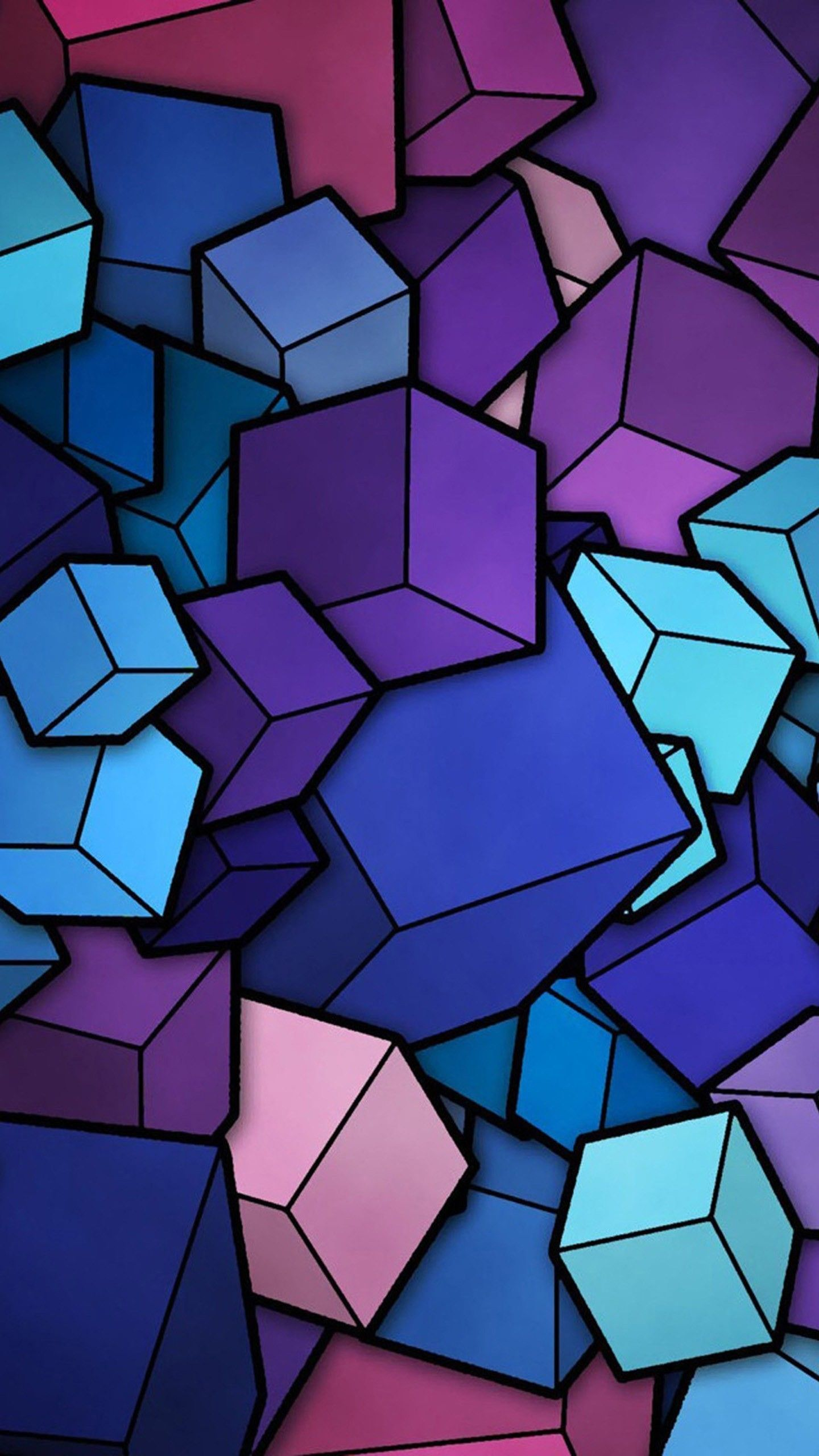 1440x2560 Abstract Cubes Blue Purple Wallpaper Galaxy S6 Lg G4 Htc One M9 Abstract Iphone Wallpaper Cool Wallpapers For Phones Abstract Wallpaper