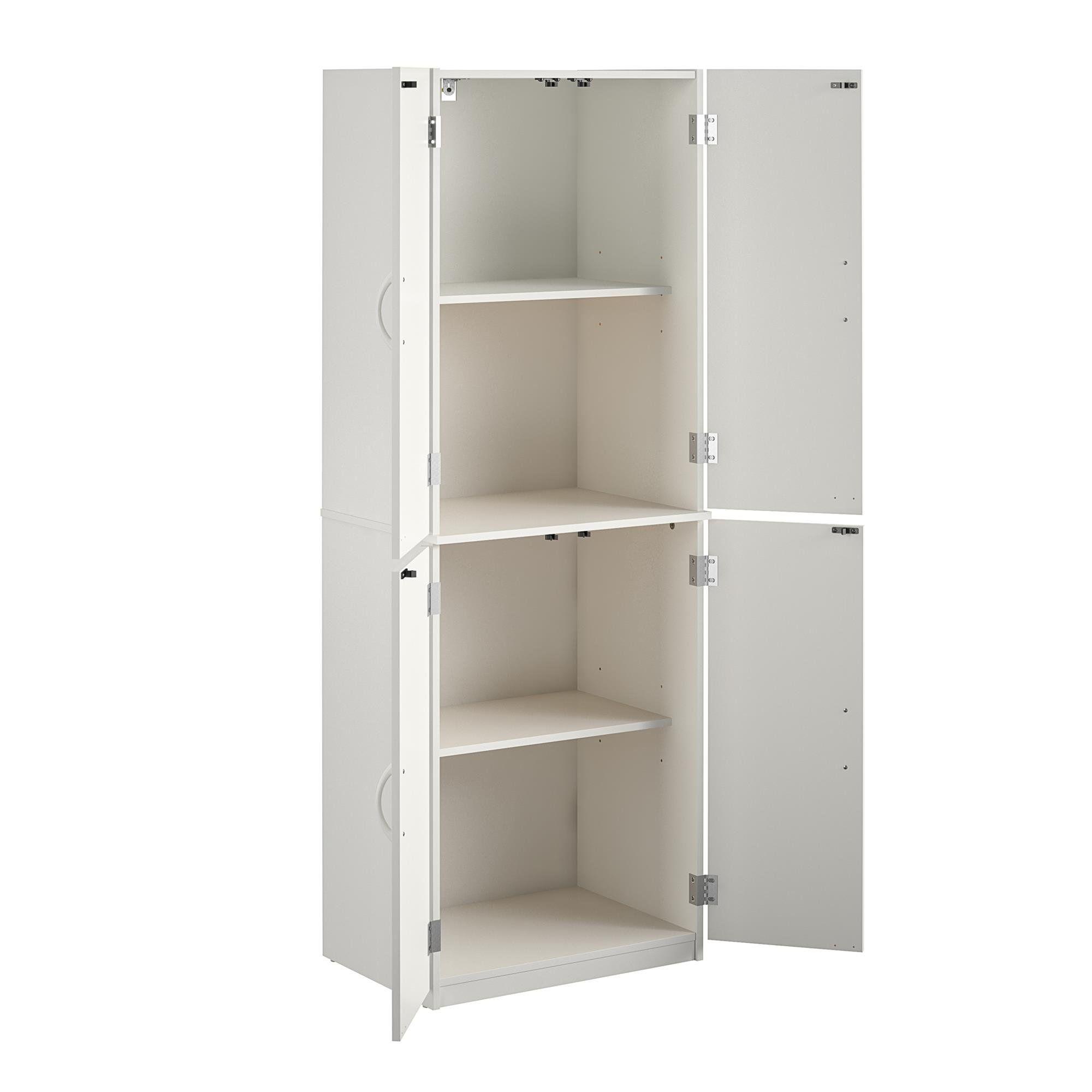 Mainstays 4 Door Storage Cabinet Dark Chocolate Walmart Com In 2020 Kitchen Pantry Storage Cabinet Storage Cabinet Shelves Home Storage Cabinets