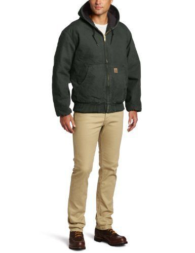 carhartt men s sandstone active jacket moss 2x large in on cheap insulated coveralls for men id=96491