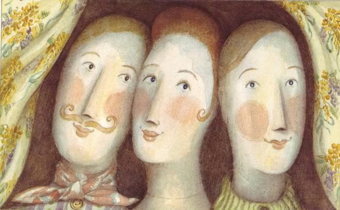 Angela Barrett. Illustration from The Hidden House, 1990.