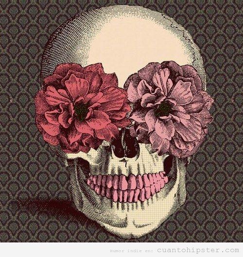 Calavera Con Flores Vintage Craneo Floral Craneo De Flores