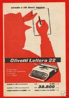 Olivetti Carteles Oliveti Obra Carteles Vintage Cartel Maquina De Escribir