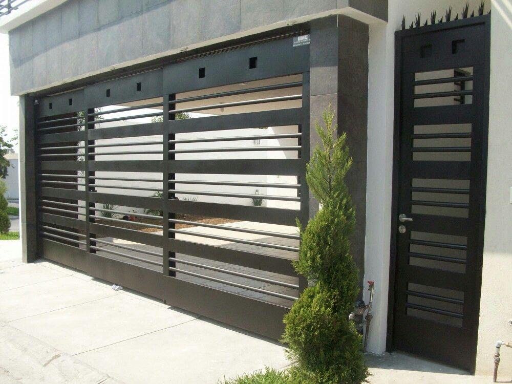 Puerta para marquesina pao puertas de herreria - Puertas para cocheras ...