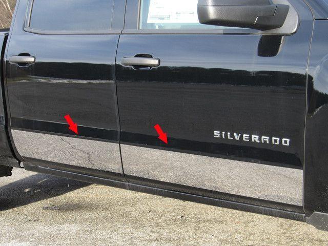 "2014-2018 Chevy Silverado Regular Cab Long Bed Rocker Panel Trim-5.5/"" Stainless"