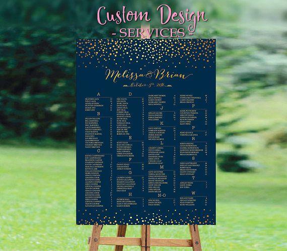 Wedding seating chart alphabetical purple poster rush service also template rh pinterest