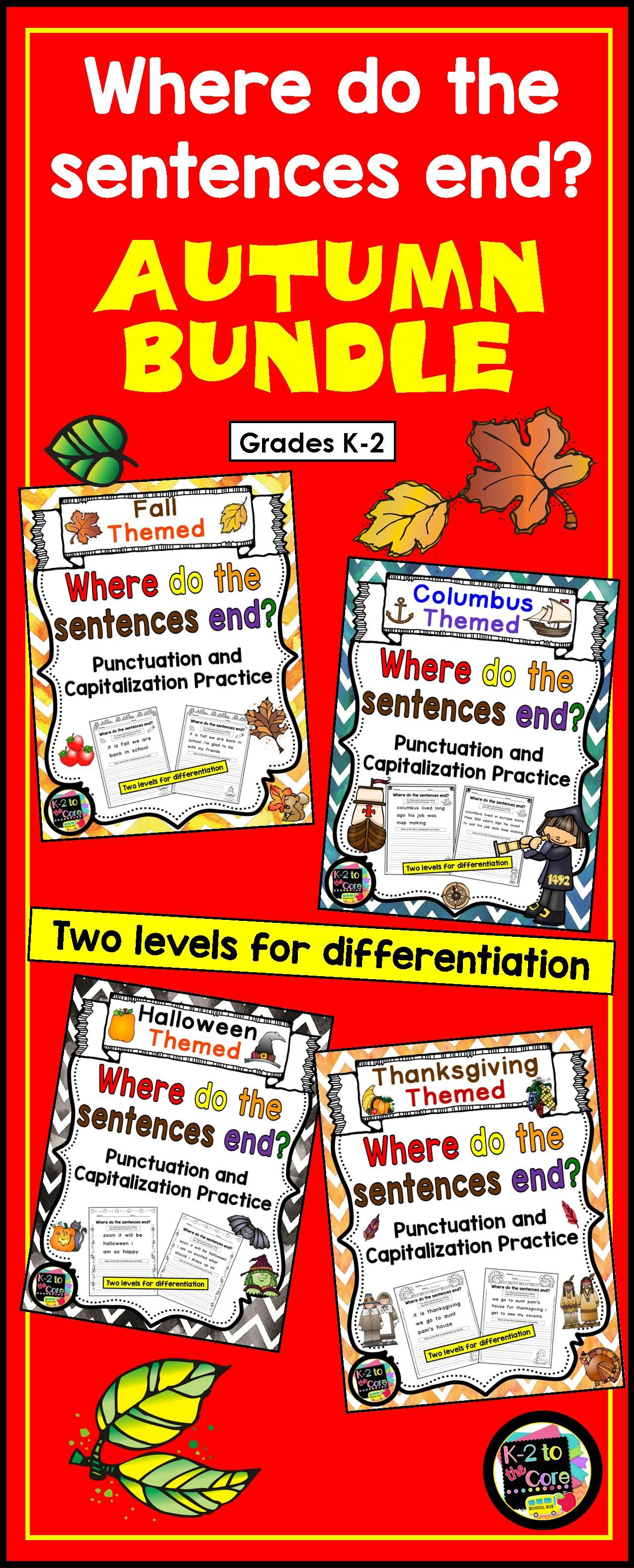 Writing Capitalization And Punctuation Practice Fall