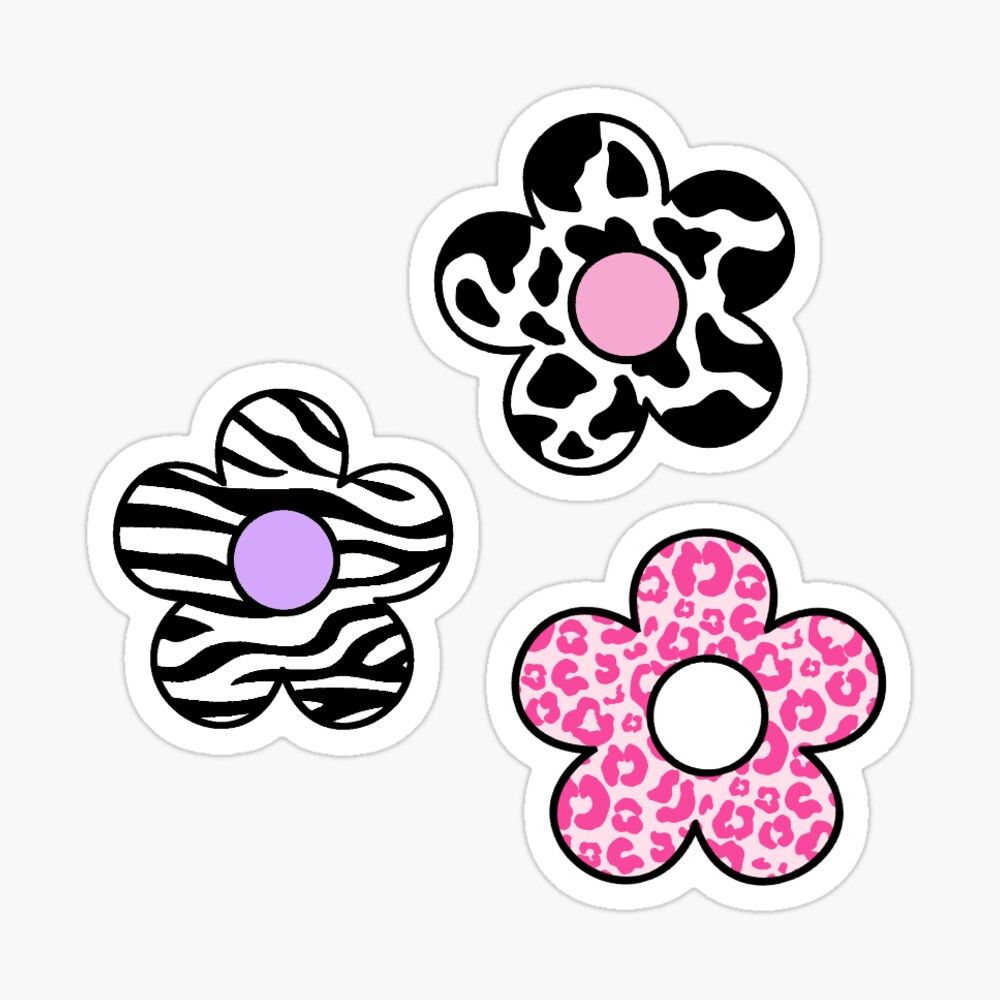 Animal Print Flower Pack Sticker By Adequatedesigns In 2020 Sticker Art Print Stickers Art Collage Wall