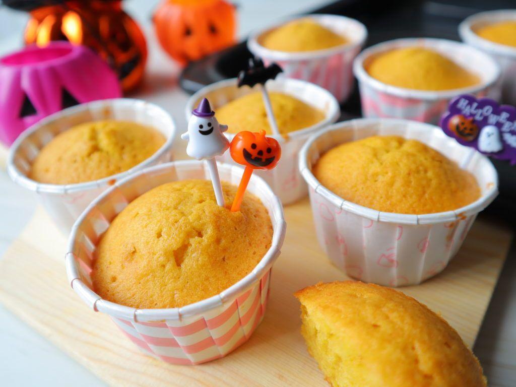 【かぼちゃパウダー・セリア100均】クッキー&マフィンやクリームに加えてみた結果!