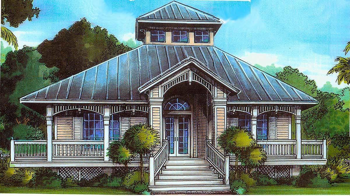 Plan 24046bg Florida Cracker Style In 2021 Beach Style House Plans Florida House Plans Cracker House
