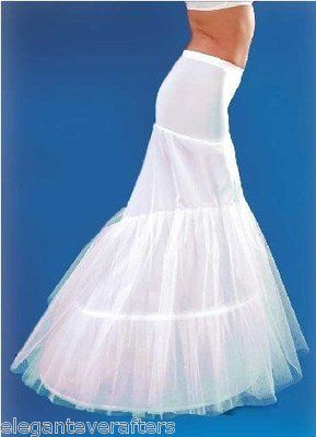 e63a457e584eb This nylon and tulle wedding petticoat features a two hoop design and  floor-length mermaid style (approx. 45 inches). Featuring a comfort stretch  waist band ...
