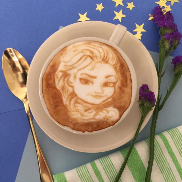 Image result for elsa latte art""