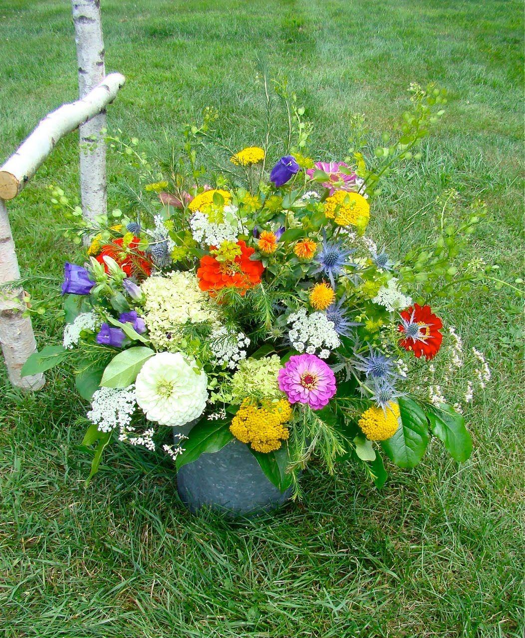 Vermont Wedding Flowers: Vermont Country Flowers: Zinnias, Beautiful Zinnias