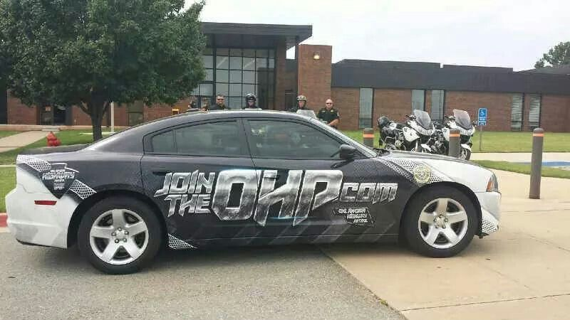 Oklahoma Highway Patrol, recruiting vehicle, 2014 Police