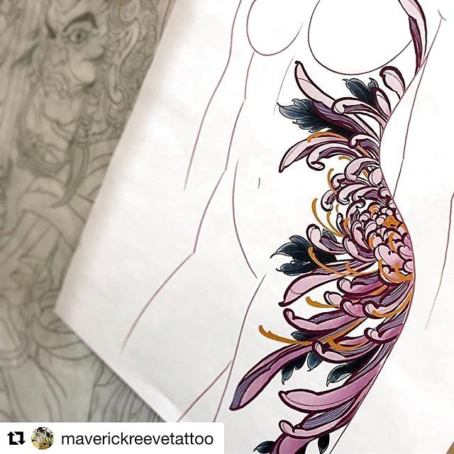 #Repost @maverickreevetattoo  #irezumi #tattoo #tattoosketch #japanesetattoo #ta... - #irezumi #japanesetattoo #maverickreevetattoo #Repost #ta #tattoo #tattoosketch