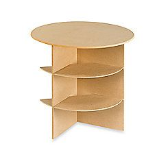 23 1 4 Inch Round Decorator Table With Shelves Bed Bath Beyond