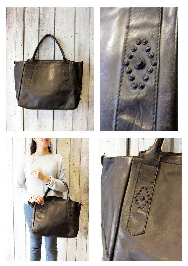 MYBAG STAR Handmade Italian leather Style Tote Bag di LaSellerieLimited su Etsy