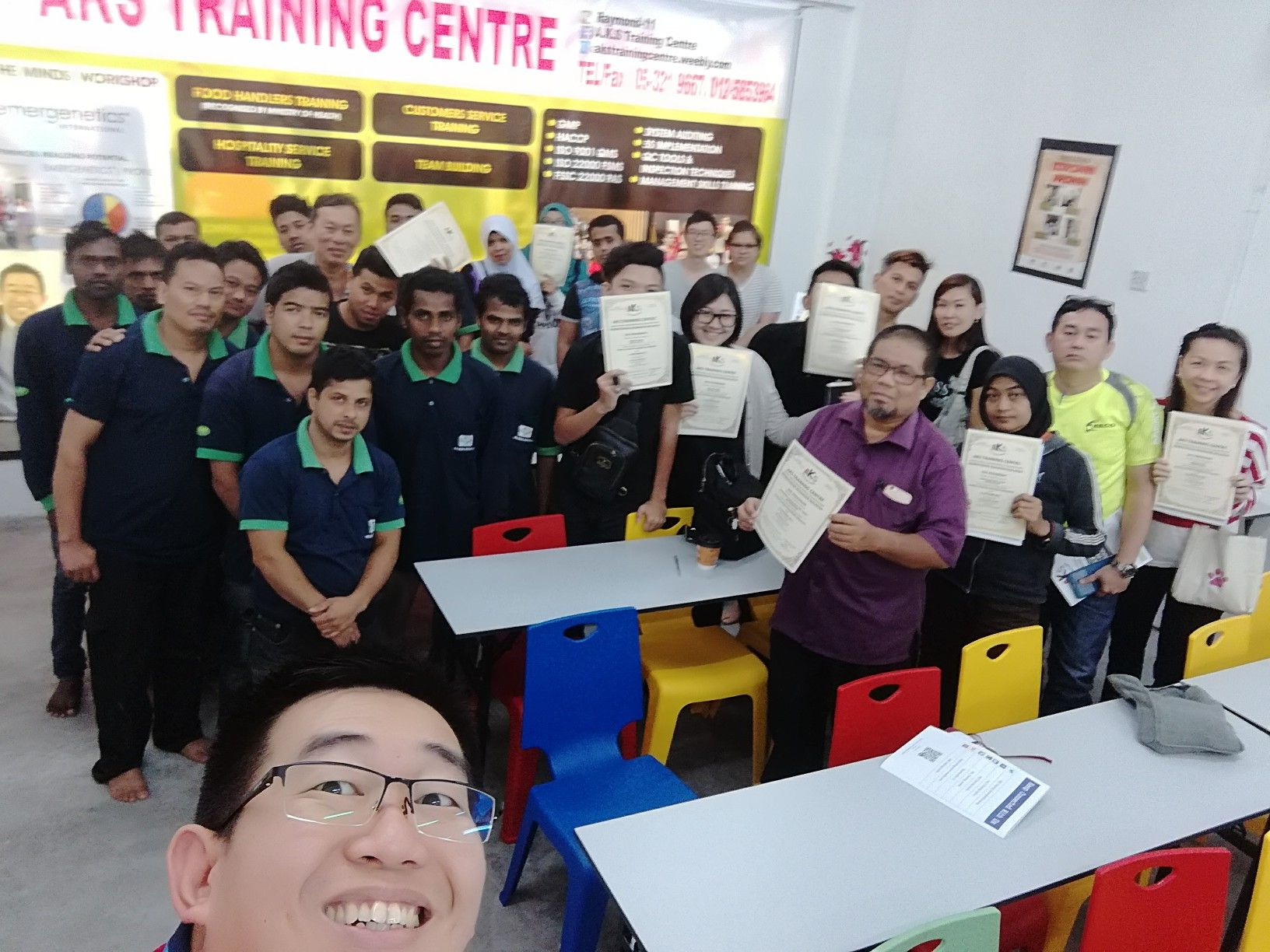 An almost full house training today. Thanks for choosing