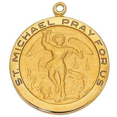Gold over sterling st michael pendant brass chain and products gold over sterling st michael pendant aloadofball Images
