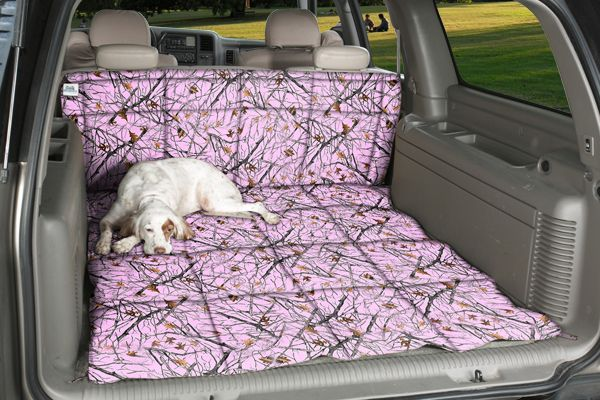 pink camo dog bed