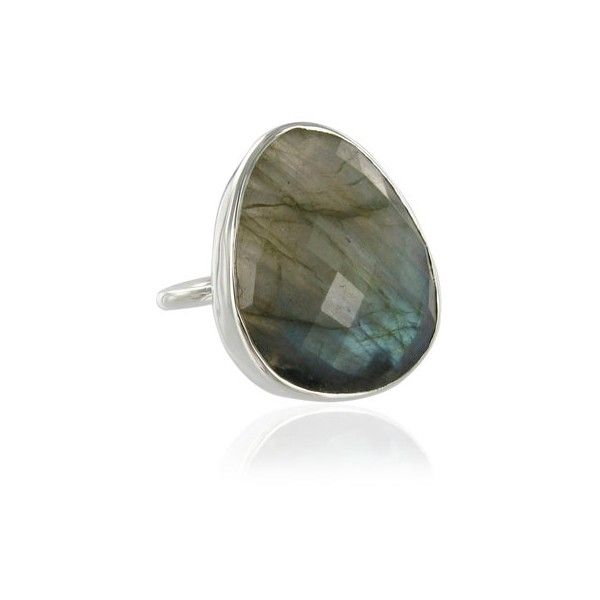 Labradorite Nugget Facet ring size N ($49) ❤ liked on Polyvore featuring jewelry, rings, accessories, monica vinader and facet jewelry