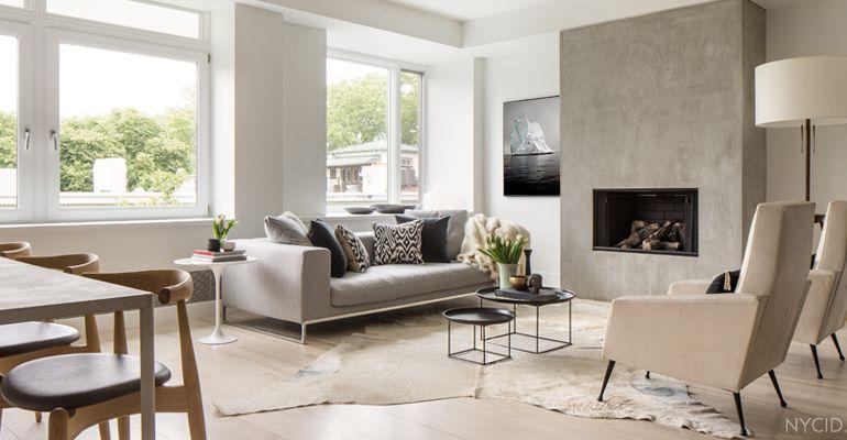 Landhaus oder Loft - beides! Hier ein Raumdesign von NYC Interior - raumdesign wohnzimmer