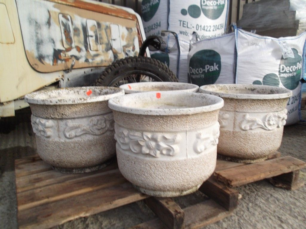 decorative concrete molds pots - google search | garden pots