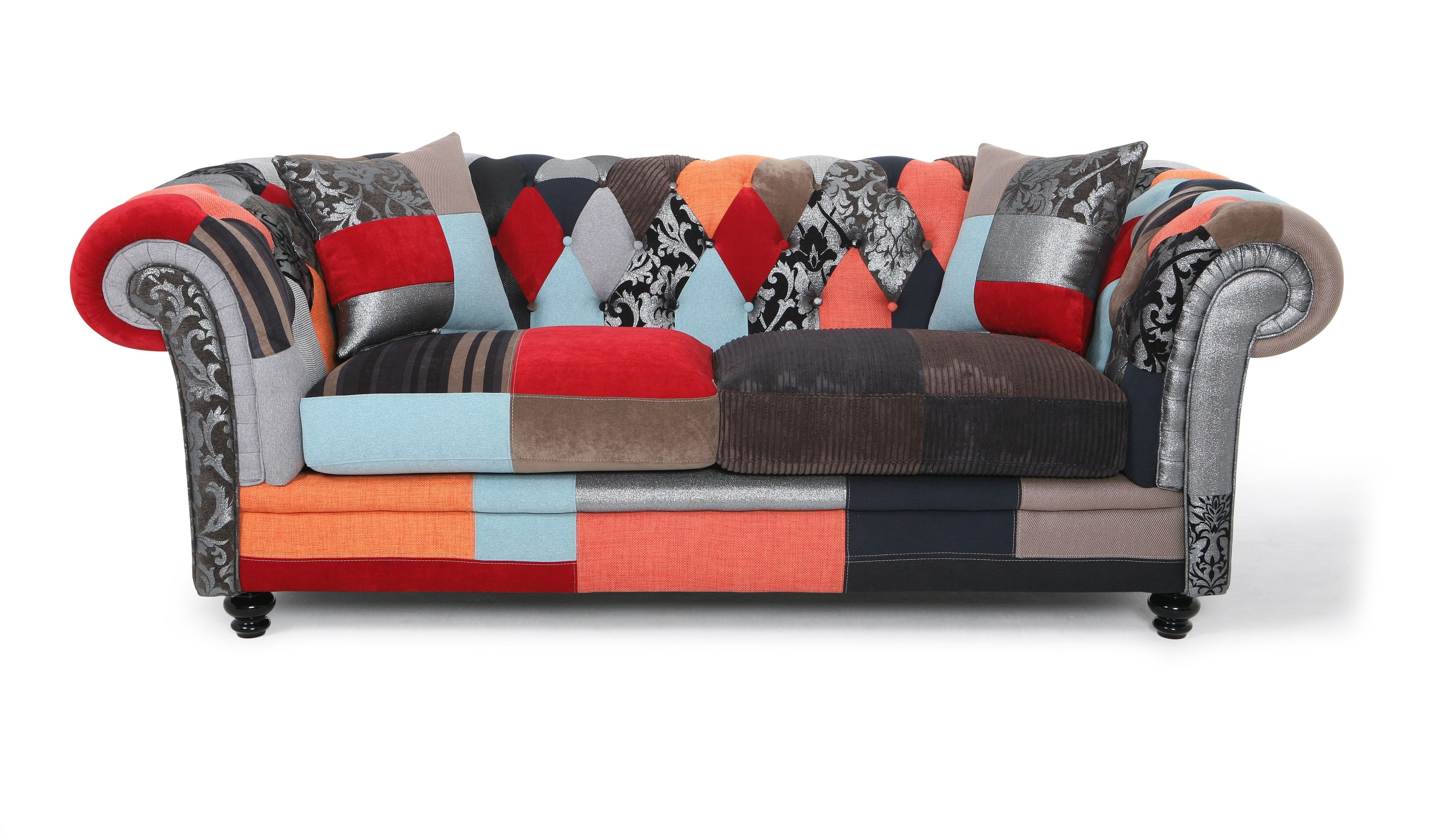 Chesterfield Lounge Sessel Willobys Patchwork 2 Seater Chesterfield Sofa Fora Namjestaj