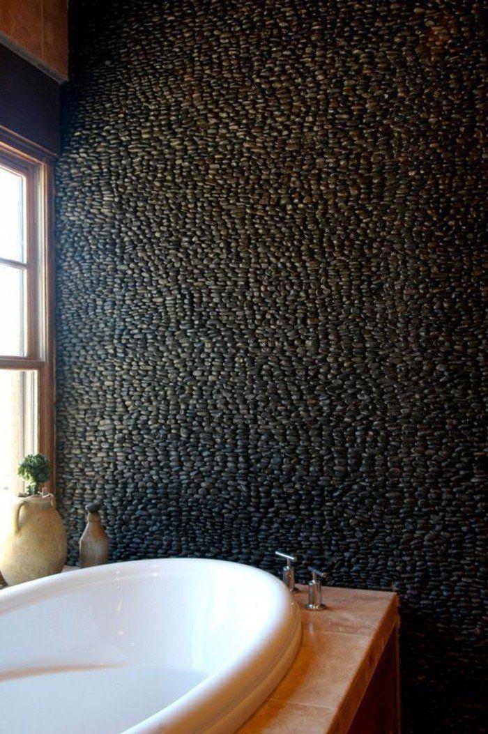 Le carrelage galet, pratique revêtement pour la salle de bain ...