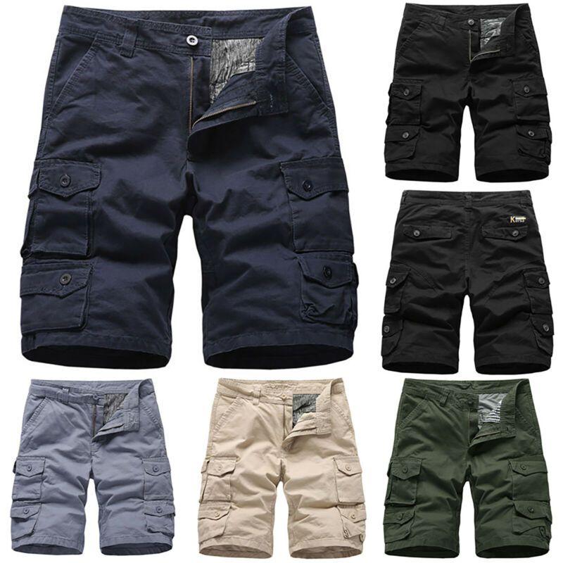 Mens Casual Shorts Combat Short Pants Cargo Work Trousers