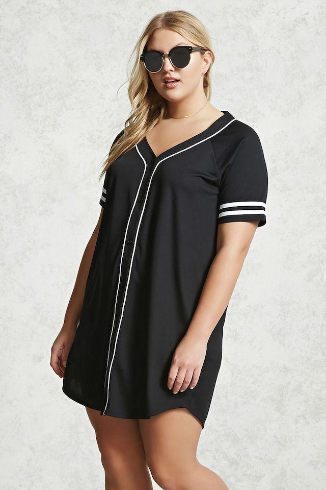 d4e7c879da Plus Size Varsity T-Shirt Dress