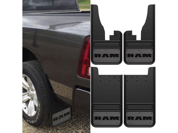 Rear Pair Gatorback Stainless Steel Plate Truck Mud Flaps