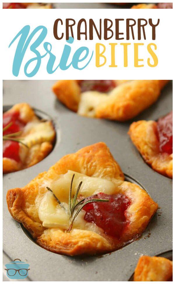 Cranberry Brie Bites #cranberrybriebites