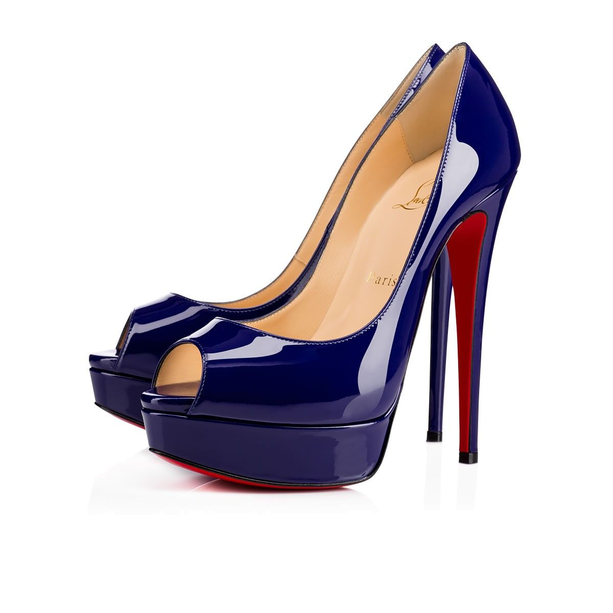 e92d40e4ff3d CHRISTIAN LOUBOUTIN LADY PEEP PATENT CALF 150 Encre Patent calfskin - Women  Shoes - Christian Louboutin.  christianlouboutin  shoes