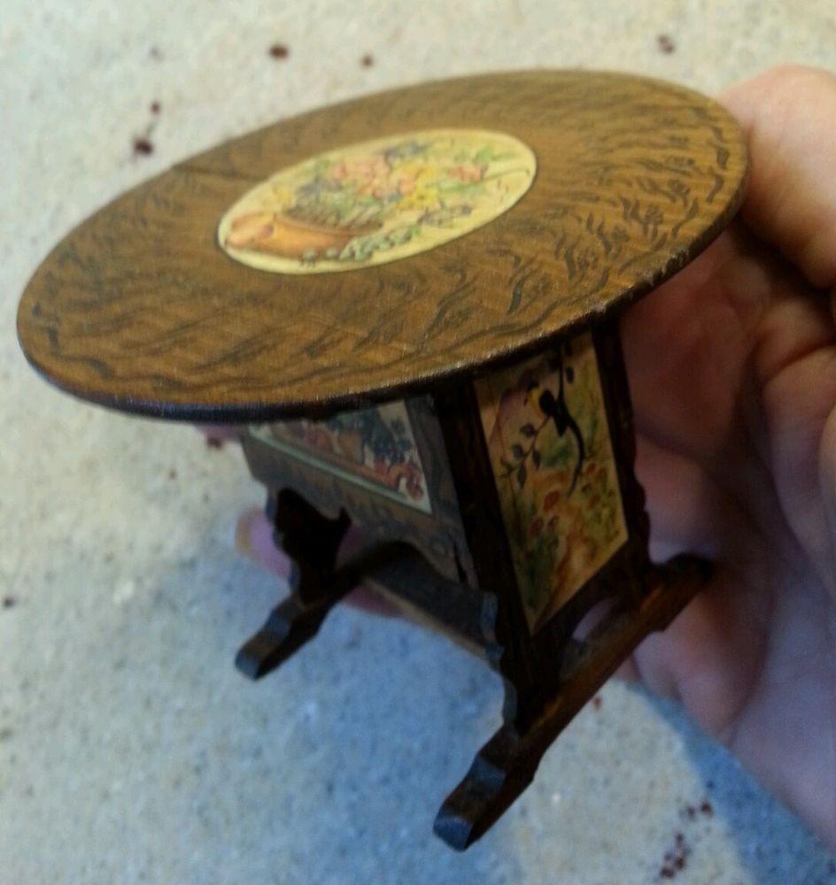 Tilt Top Table Artisan Handpainted Ooak Tidmore 89