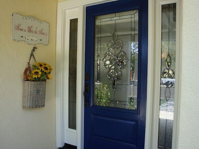 Royal Blue Front Door Is So Cool Not What I Was Envisioning But