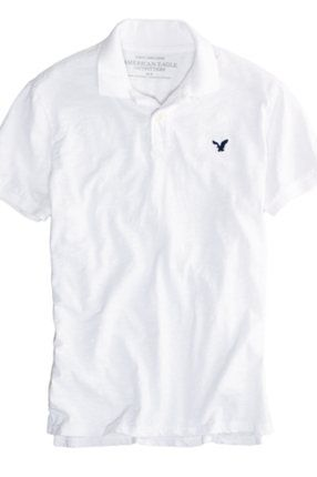 5a3c4558 Mens American Eagle Outfitters polo shirt. Maybe white can be the next one  I buy for him? :)
