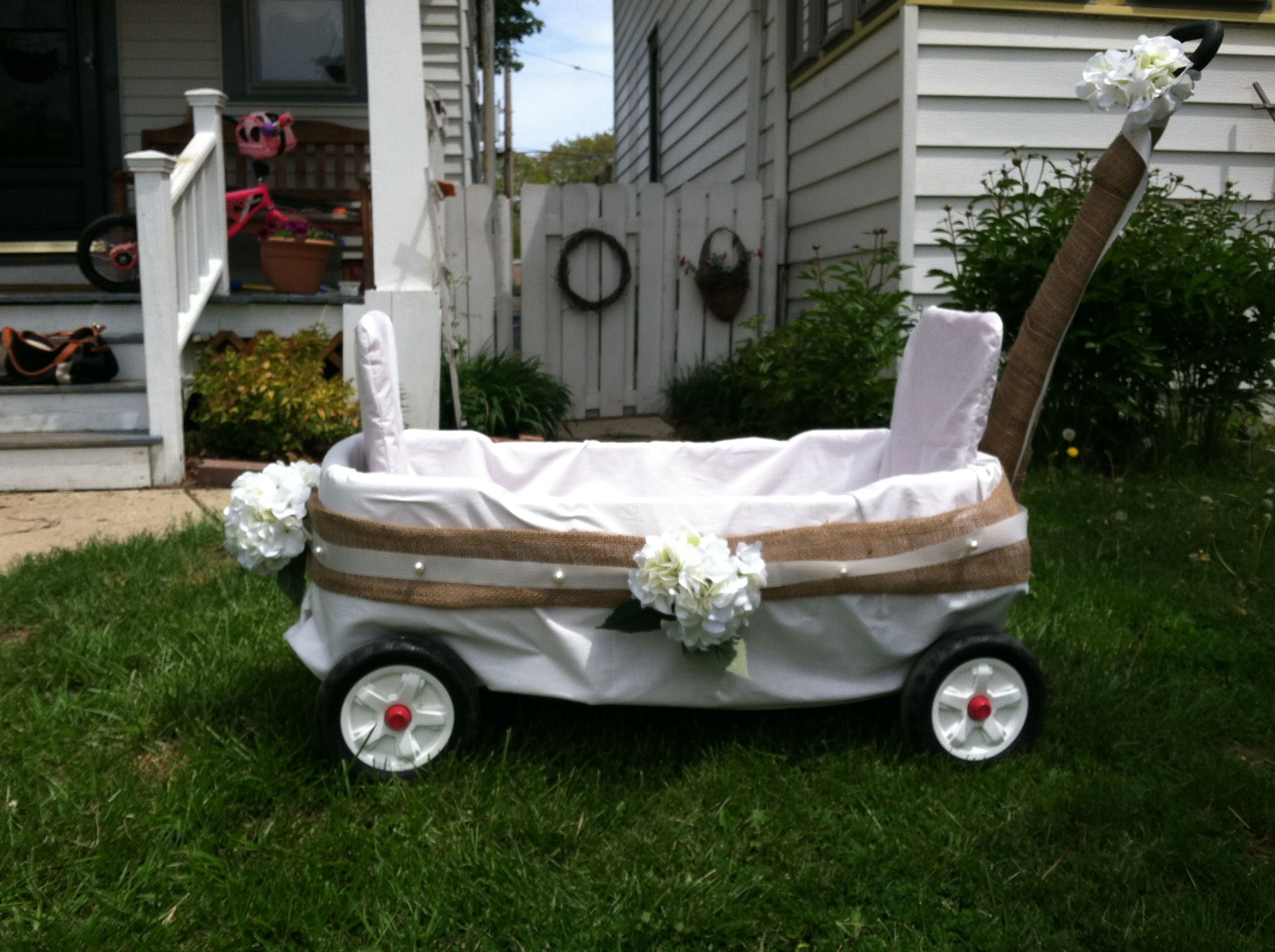 Wedding Wagon Wagon For Wedding Diy Wedding Wagon Flower Girl Wagon