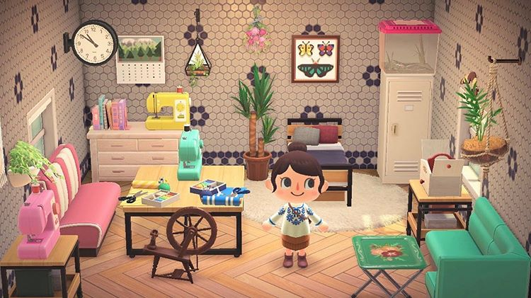 Acnh Designs Layouts On Instagram Today I M Highlighting Arts And Crafts Rooms Animalcrosserolivia Was So Welcoming In 2020 Craft Room Animal Crossing Design