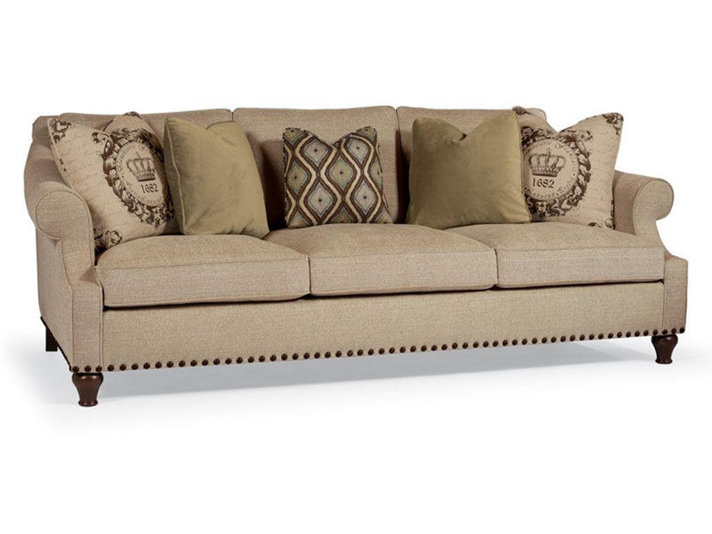Elegant Looking Bernhardt Sofa Collection : Astonishing Bernhardt Harrison Three Cushion Sofa with Padded KnifeEdge Back and Elegant Rolled Arms also Full Three Seat Cushion