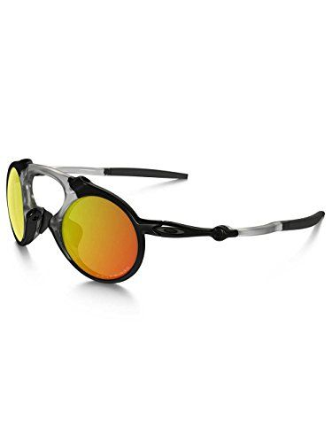 cacac05daef30 Oakley Mens Madman OO601904 Polarized Iridium Round Sunglasses Dark Carbon  42 mm     You can find out more details at the link of the image.
