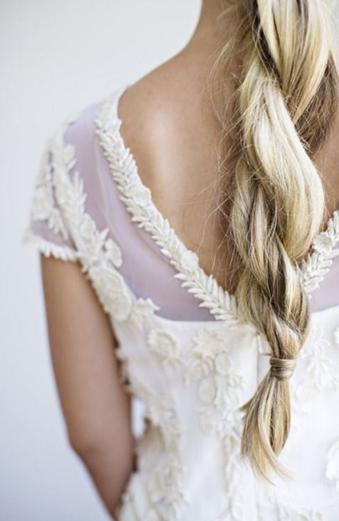Lovely alternative to the braid hairstyle