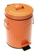 Poubelle de Salle de Bain à Pédale Orange Style Rétro - 3L | objets ...
